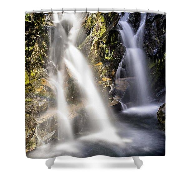 Ruby Creek Lower Falls Mt Rainier Shower Curtain
