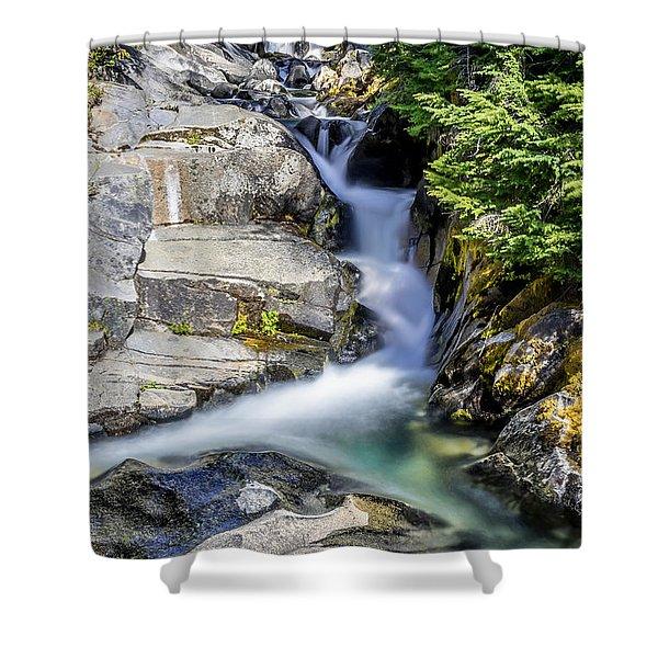 Ruby Creek Mt Rainier Shower Curtain