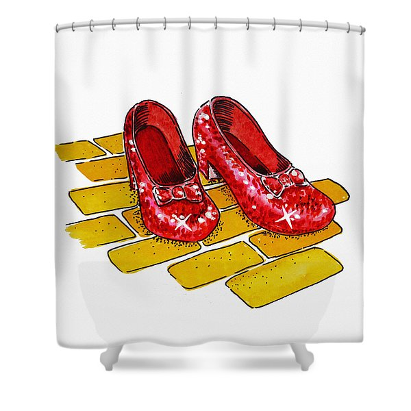 Ruby Slippers The Wizard Of Oz  Shower Curtain