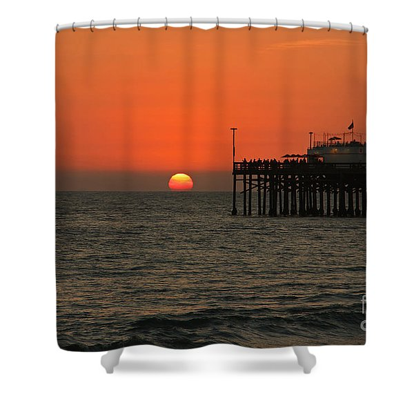 Ruby's Sunset Shower Curtain