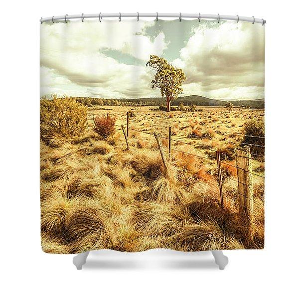 Rugged Australian Pastures Shower Curtain