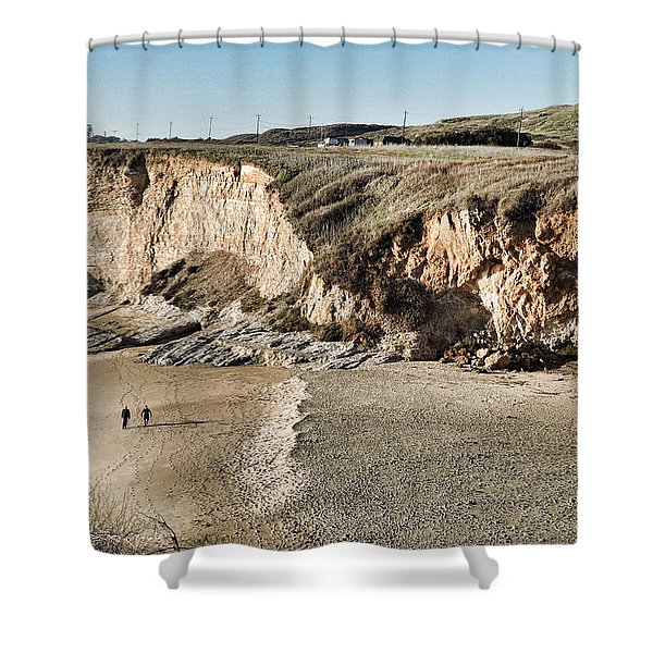 Rugged Coastline Shower Curtain