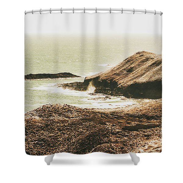 Rugged Rocky Cape Shower Curtain