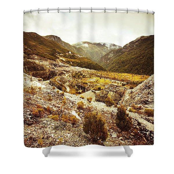 Rugged Valley Wilderness Shower Curtain