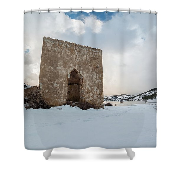 Ruin On The Snow Shower Curtain