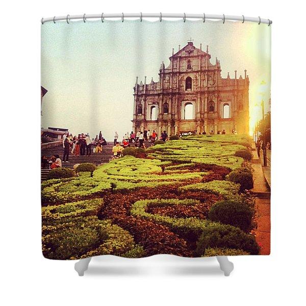 Ruinas De Sao Paulo Macau  Shower Curtain