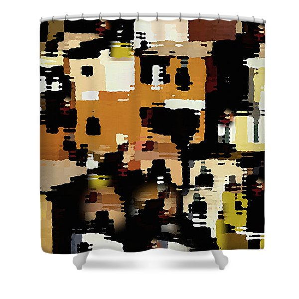 Ruins, An Abstract Shower Curtain