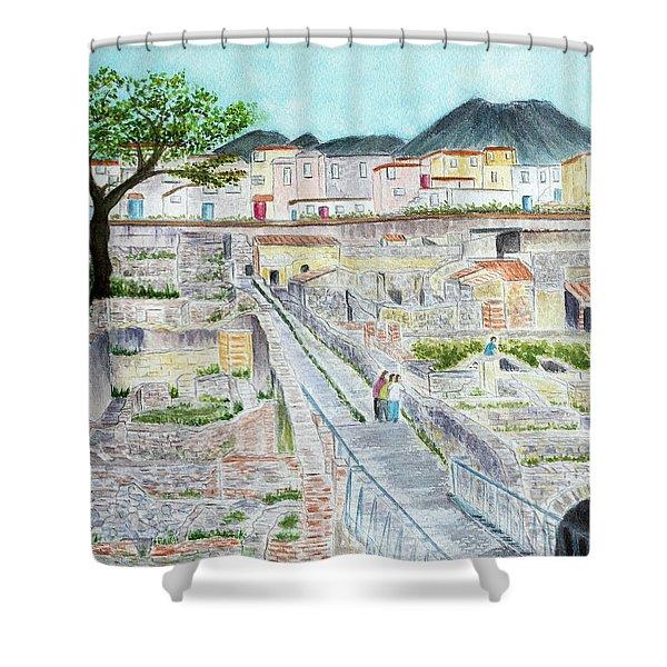 Ruins Of  Herculaneum Shower Curtain