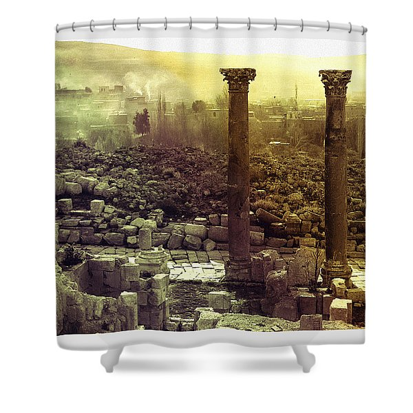 Shower Curtain featuring the photograph Ruins Of Jurash by Robert G Kernodle