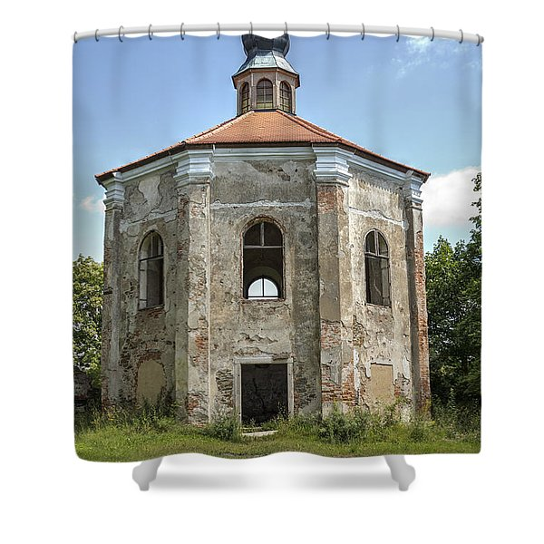 Ruins Of The Loretto Chapel Shower Curtain