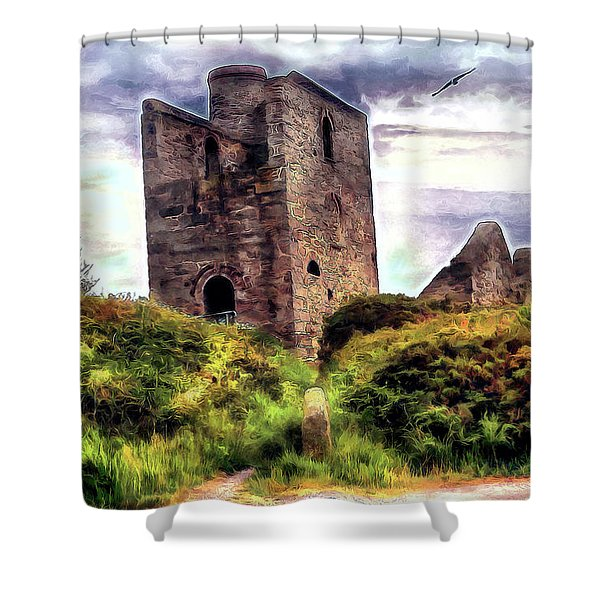 Ruins Of The Old Tin Mine Shower Curtain