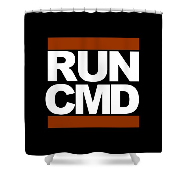 Run Cmd Shower Curtain