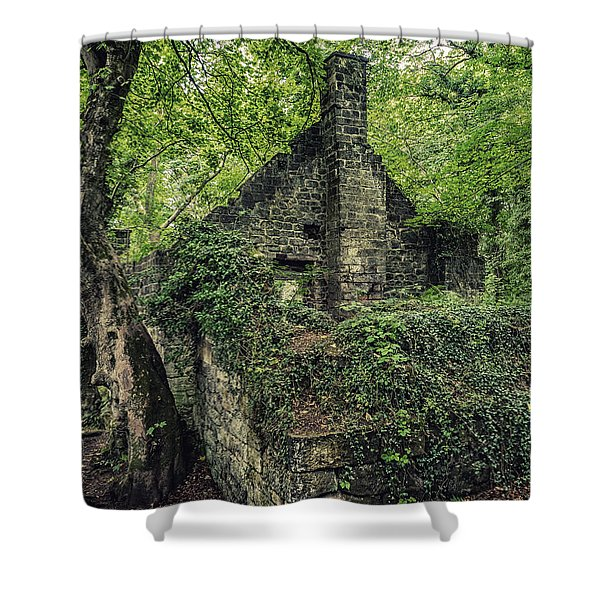 Shower Curtain featuring the photograph Run Down Mill by Nick Bywater