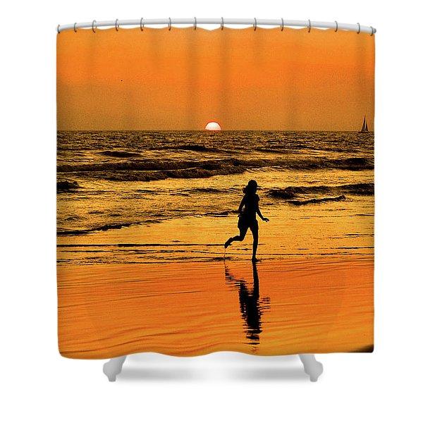 Run To The Sun Shower Curtain