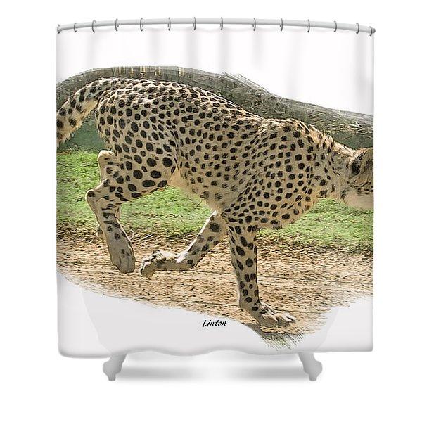 Running Cheetah Shower Curtain