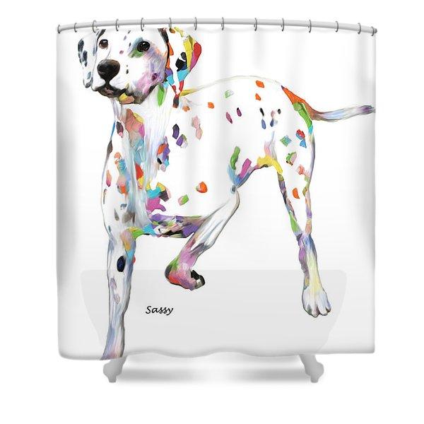 Running Dalmatian Shower Curtain