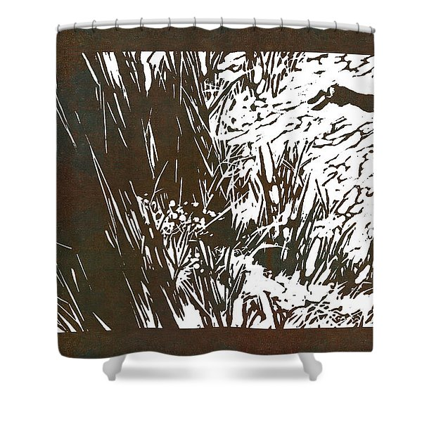 Running Hare Shower Curtain