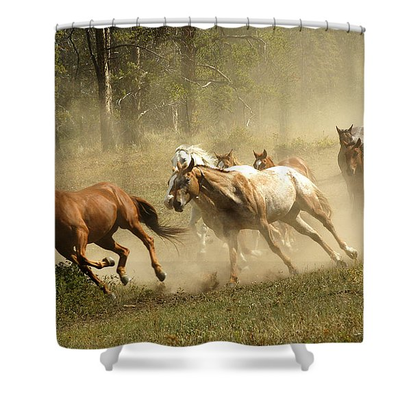 Running Horses Shower Curtain