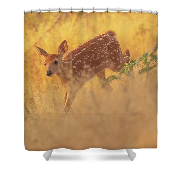 Running In Sunlight Shower Curtain