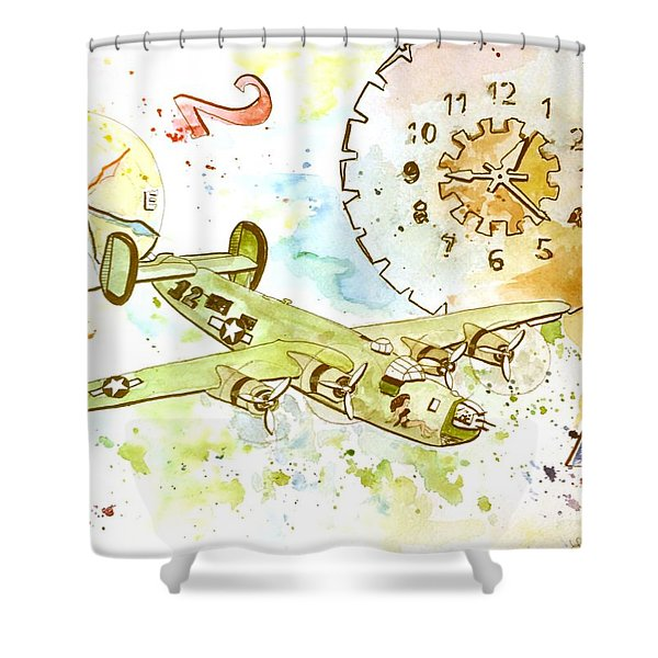 Running Out Of Time Shower Curtain