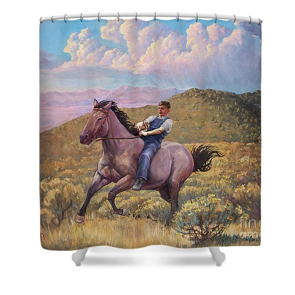Runaway Roan Shower Curtain