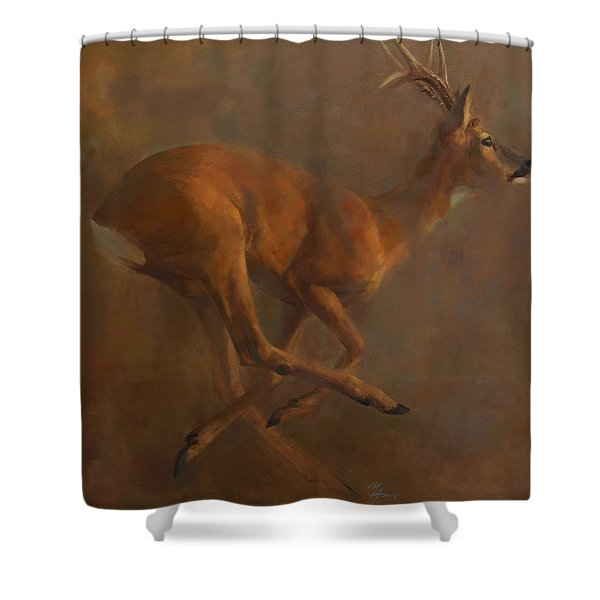 Running Roe Shower Curtain