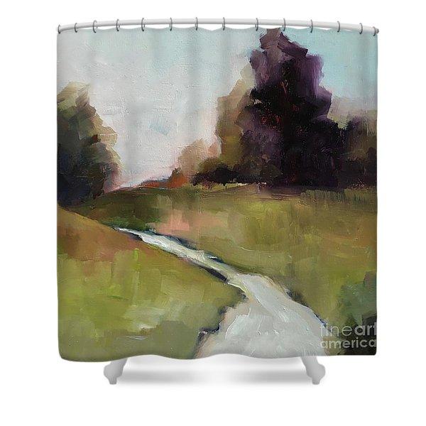 Running Stream Shower Curtain