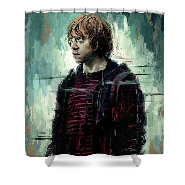 Rupert Grint As Ronald Weasley Shower Curtain