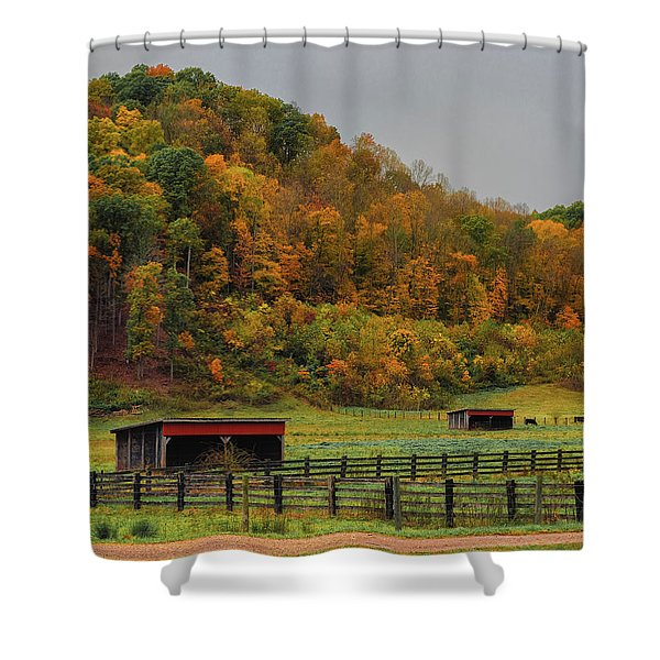 Rural Beauty In Ohio  Shower Curtain