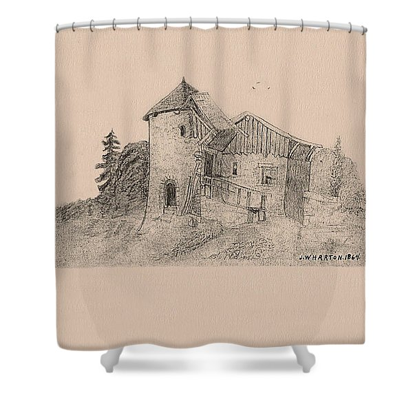 Rural English Dwelling Shower Curtain
