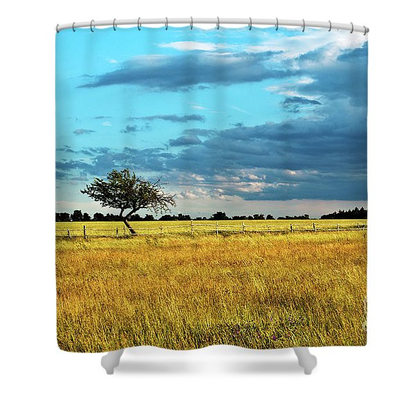Shower Curtain featuring the photograph Rural Idyll Poetry by Silva Wischeropp