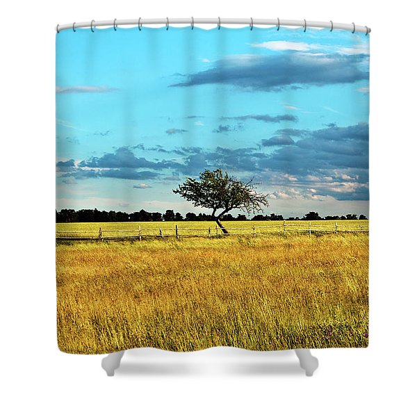Rural Idyll Poetry Shower Curtain