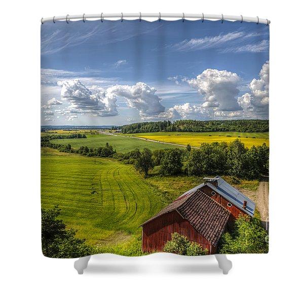 Rural Landscape Shower Curtain