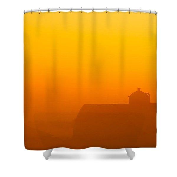 Rural Radiance Shower Curtain
