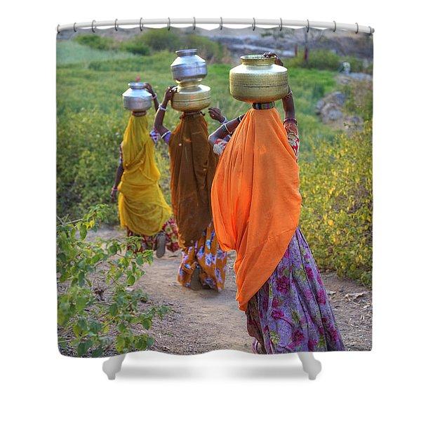 rural Rajasthan Shower Curtain