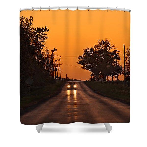 Rural Road Trip Shower Curtain