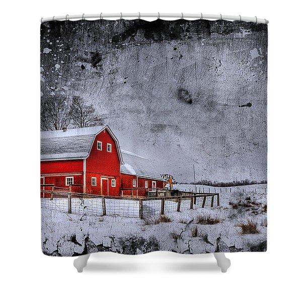 Rural Textures Shower Curtain