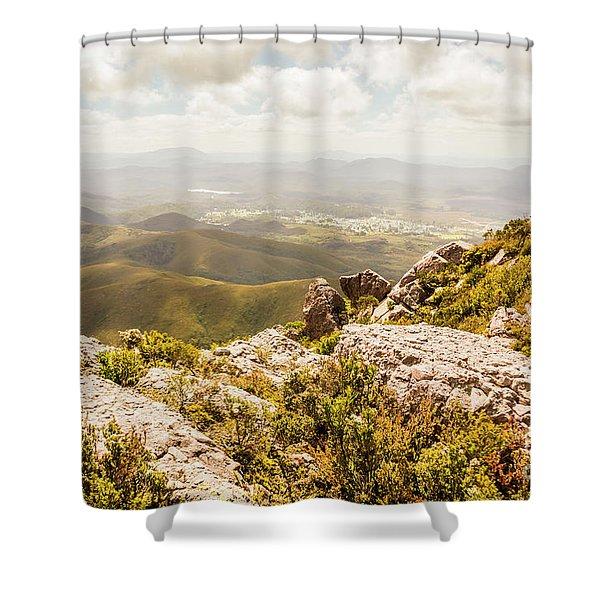 Rural Town Valley Shower Curtain