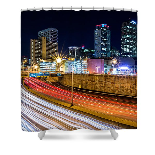 Rush Hour In Hartford, Ct Shower Curtain