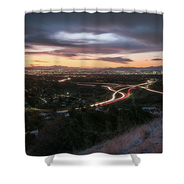 Rush Hour In Salt Lake City Shower Curtain