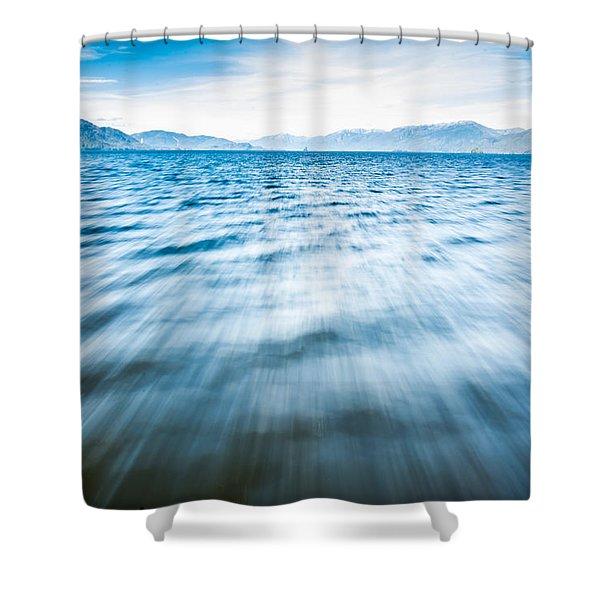 Rushing Away Shower Curtain