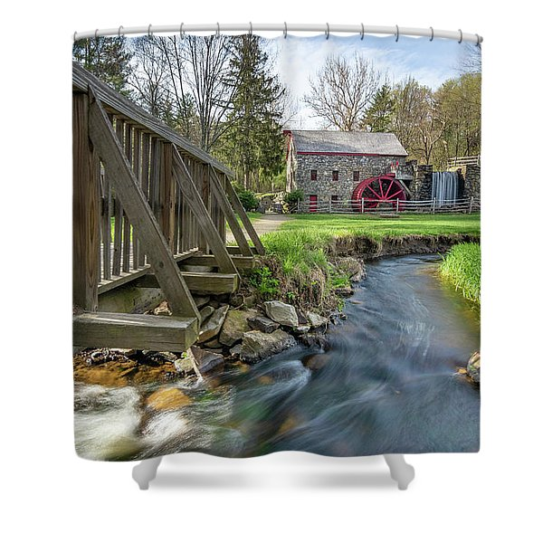 Rushing Water At The Grist Mill Shower Curtain