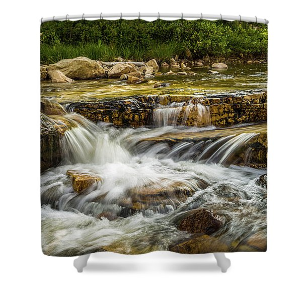 Rushing Waters - Upper Provo River Shower Curtain