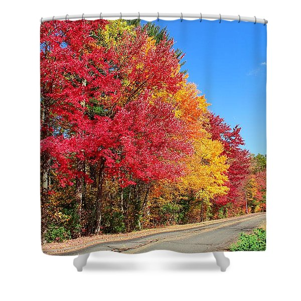 Shower Curtain featuring the photograph Russellville Road Fall Colors by Sven Kielhorn