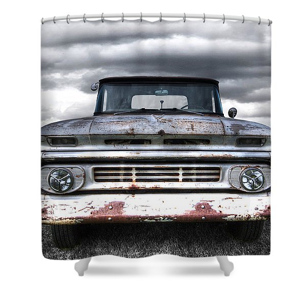 Rust And Proud - 62 Chevy Fleetside Shower Curtain