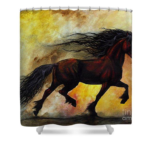 Rust Unicorn Shower Curtain