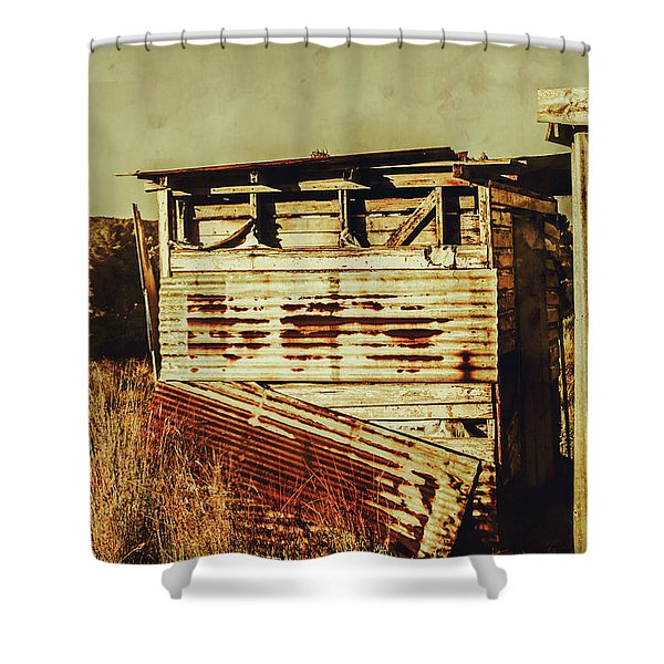 Rustic Abandonment Shower Curtain