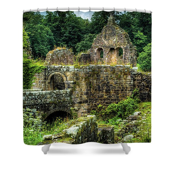 Rustic Abbey Remains Shower Curtain
