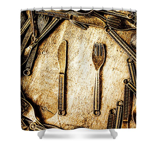 Rustic Catering Shower Curtain