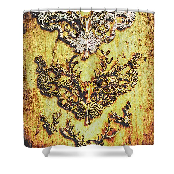 Rustic Country Style Jewels  Shower Curtain